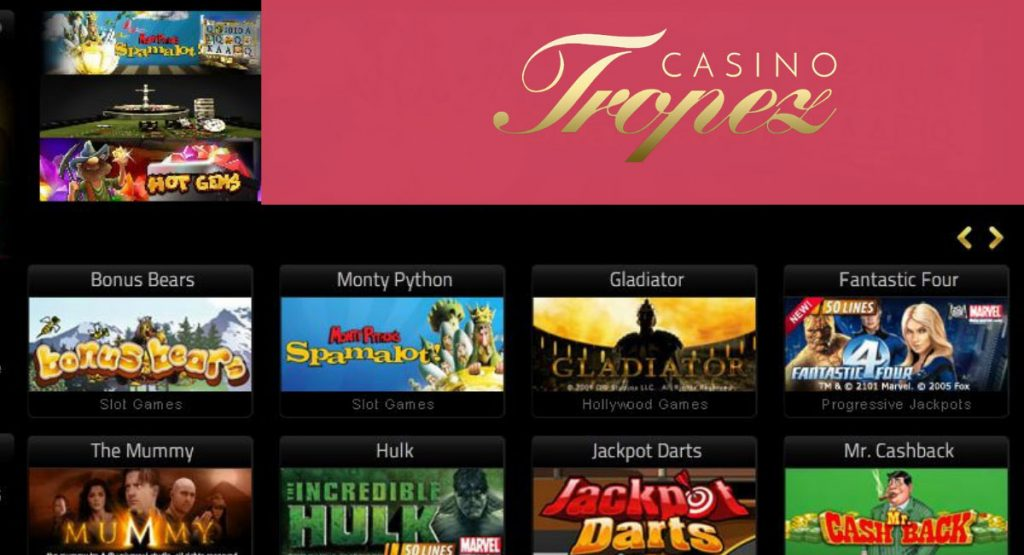 Tropez a new name in the online casino world