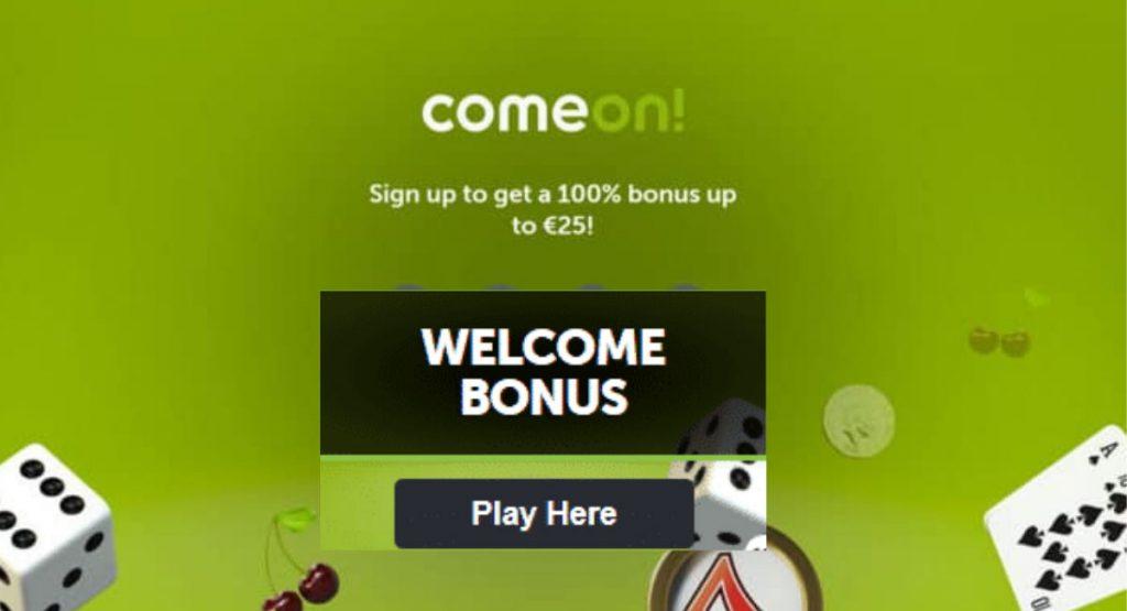 Comeon welcome bonus